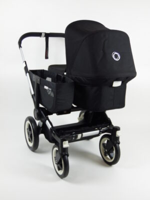 Bugaboo Donkey Mono Kinderwagen - Alu/Zwart/Zwart