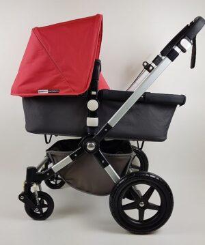 Bugaboo® Cameleon 3 Kinderwagen - Donkergrijs - Corel Red
