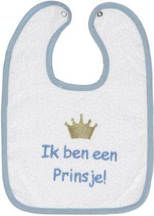 ISI Mini Slabbetje Tekst: Ik ben een prinsje