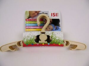 ISI Mini Kledinghangers 5 stuks - Ecru