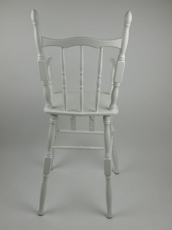 Houten Kinderstoel Wit.Houten Retro Kinderstoel Verstelbare Voetensteun Wit Aktie Shop Nl