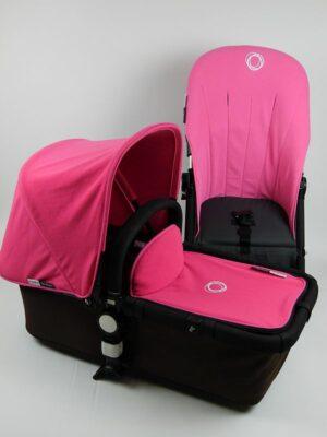 Refurbished bugaboo® cameleon aanvullende bekledingset - pink fleece