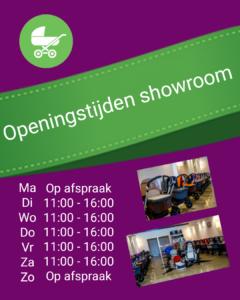Openingstijden showroom