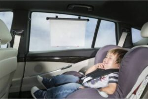 ISI Mini Zonnescherm Voor Auto Met Temperatuur Waarschuwing - 2 stuks