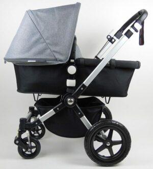 Bugaboo® Cameleon 3 Kinderwagen - Zwart - Gemêleerd Grijs