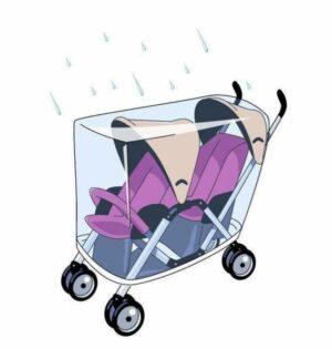 Babsana Regenhoes - Tandem Duo-Kinderwagen