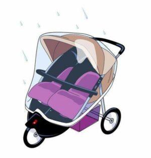 Babsana Regenhoes - Duo-Rider-Kinderwagen
