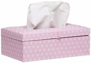Briljant Baby Tissue box Sam - Lichtroze