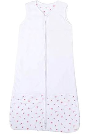 Briljant Baby - Winter slaapzak Fleur - Katoen - 70 cm - Roze