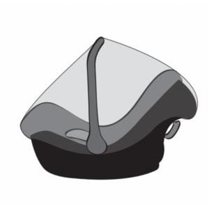 Cools Petito Regenhoes Autostoel 0+ - Universeel