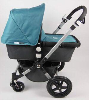 Bugaboo® Cameleon3 Kinderwagen - Donkergrijs - Petrolblauw