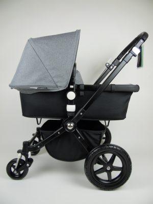 Bugaboo® Cameleon3 Kinderwagen - Zwart - Zwart - Gemêleerd Grijs