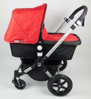 Bugaboo® Cameleon 3 Kinderwagen - Zwart - Rood