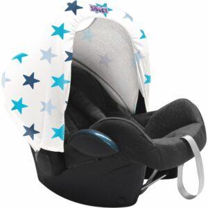 Dooky Hoody - Zonnekap autostoel - Blue Stars