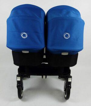Bugaboo® Donkey Twin Kinderwagen - Zwart - Koningsblauw