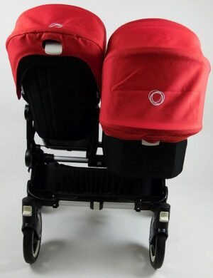 Bugaboo® Donkey Duo Kinderwagen - Zwart/Rood