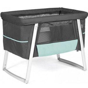 Babyhome Campingbed Air Bassinet - Graphite/Aqua