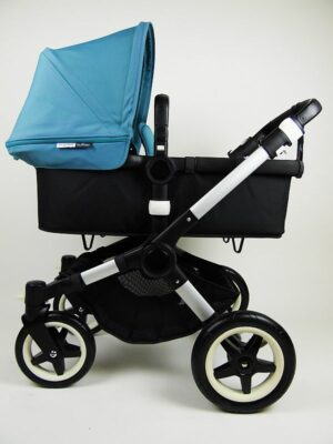 Bugaboo® Buffalo Kinderwagen - Zwart - Petrolblauw