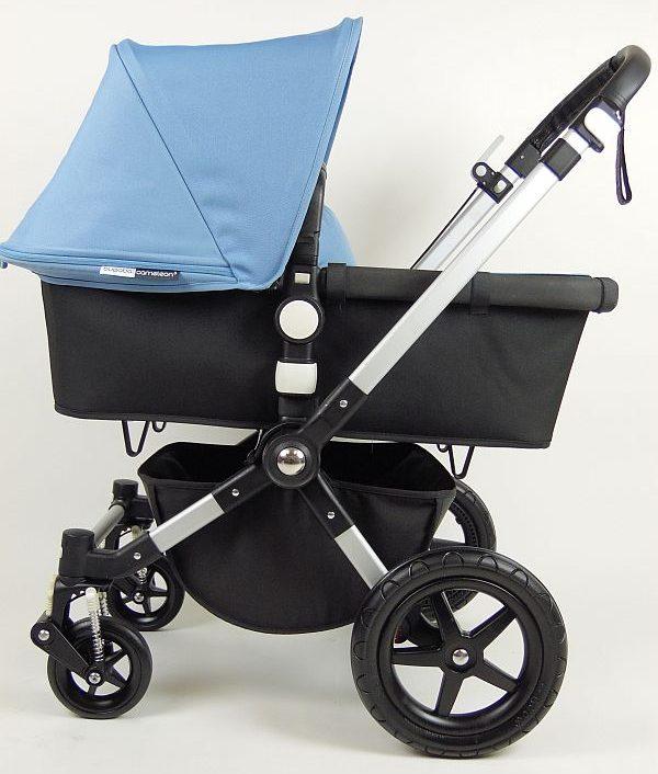 Bugaboo® Cameleon 3 Kinderwagen - Zwart - IJsblauw
