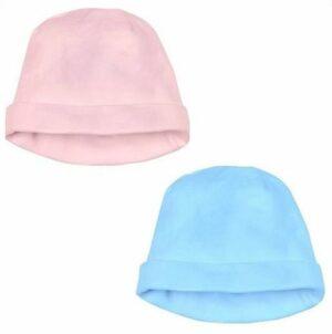 Babymutsje Katoen Beanie Roze en Blauw